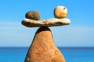 Stones in balance on coast