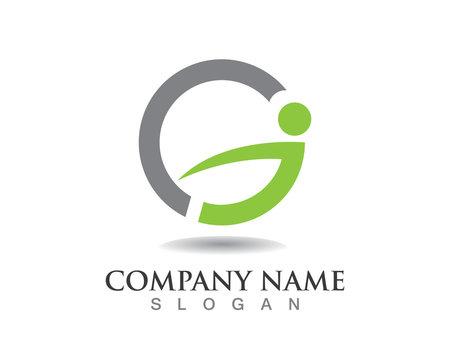 Health people logo G letter