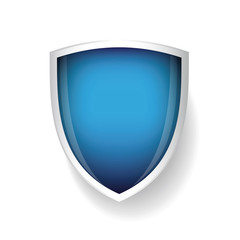 Vector shield blue