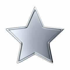 Silver star with border