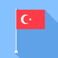 Flag of Turkey. Vector illustration.