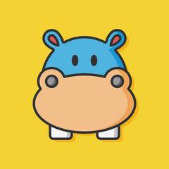 animal zoo hippo icon