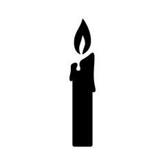 Lit candle / candlestick flat icon for apps and websites