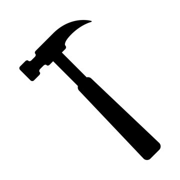 House repair hammer flat icon for apps