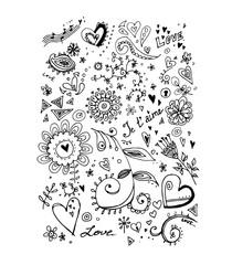 Flowers, vector illustration