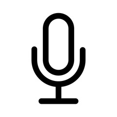Microphone speaker (speech to text) line art icon for apps and websites