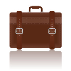 Travel Leather Suitcase