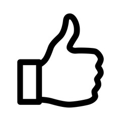 Thumbs up line art icon for apps and websites