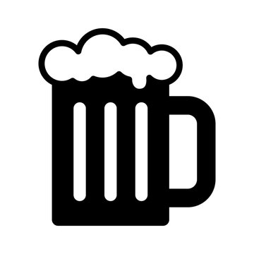 Beer mug flat icon for apps and websites