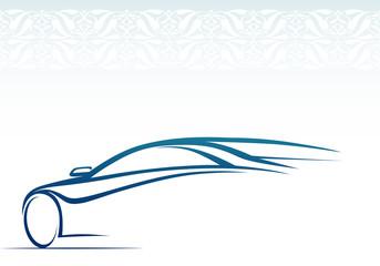 Otomobil silueti ve işlemeli arkafon