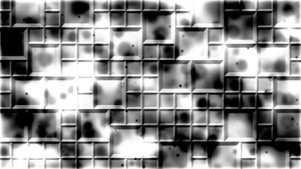Abstract Monochrome Tiled Background Illustration