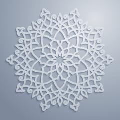 Vector arabic pattern circle ornament