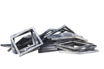 Construction material isolated on white background