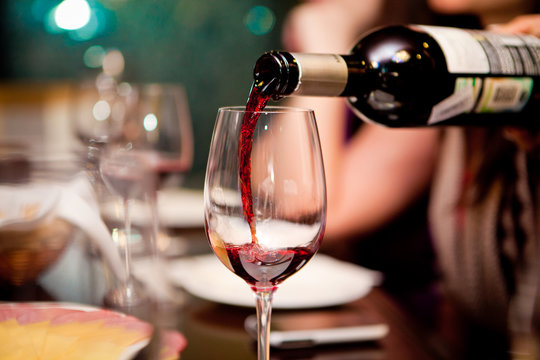 Red wine.Red wine can accompany a sumptuous dinner or to brighten up a dull evening after a hard day