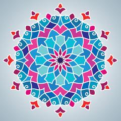Colorful circle arabic pattern