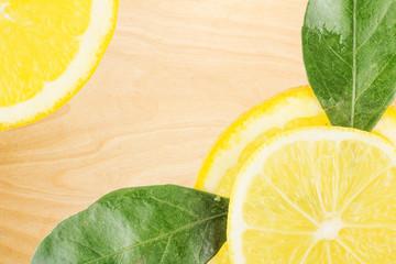 Board with Lemon