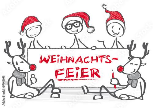 """strichmännchen-gruppe weihnachtsfeier"""" stockfotos und lizenzfreie, Einladung"""