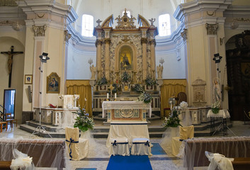 Mother Church of Oriolo. Calabria. Italy.
