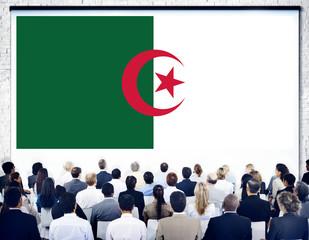 Algeria National Flag Government Freedom Seminar Concept