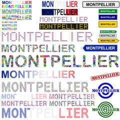 Montpellier text design set
