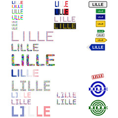 Lille text design set