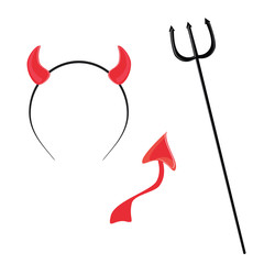Devil horn,tail and trident