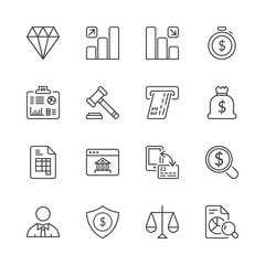 finance thin line iconset 2