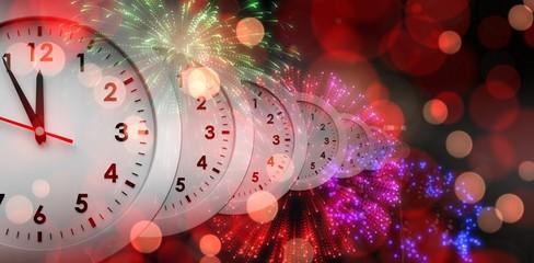 Composite image of clocks