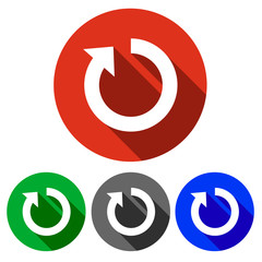 Four vector icons restart