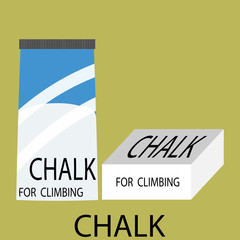 Chalk climbing icon