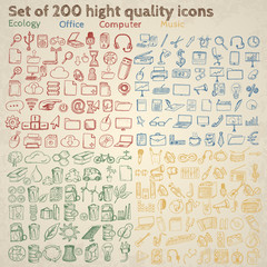 Big set of icons for different occasions.