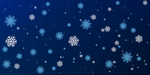 Christmas a background with falling snowflakes.Vector