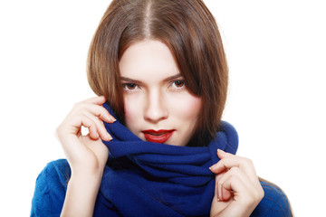 woman wearing woolen