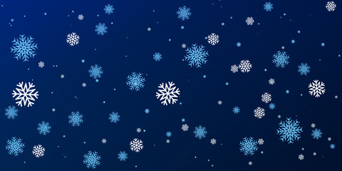 Christmas a background with falling snowflakes