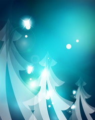 Holiday blue abstract background, winter snowflakes, Christmas and New Year design template