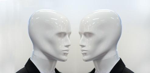 Twin plastic mannequin