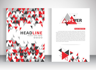 Vector design of the white flyer black red gray elements. Poster template for your business.