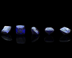 Gemstones background. Diamond. Sapphire