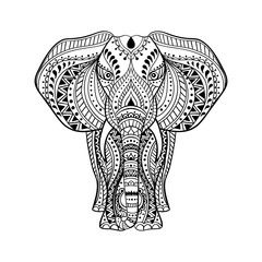 Vector Ethnic  Indian Elephant