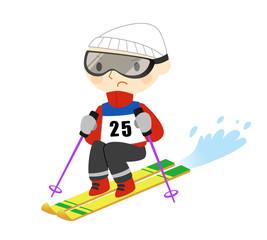 スキーの試合