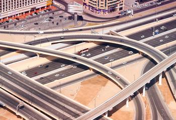 Interstate exchange system of Dubai roads