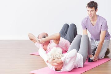 Seniors leading healthy lifestyle