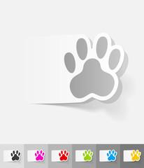 realistic design element. footprint