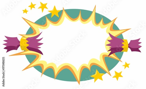 Christmas Cracker Vector.Christmas Cracker Opens Background Stock Image And Royalty
