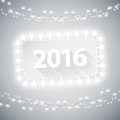 Simple Banner 2016 with Christmas Lights