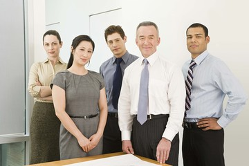 Five business colleagues
