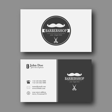 Barber shop business card template