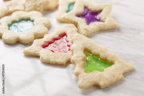 Stain Glass Christmas Cookies Stock Photo And Royalty Free Images