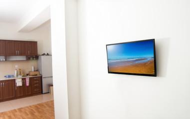 tv screen in apartmnent