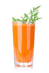 Fresh vegetable carrot juice
